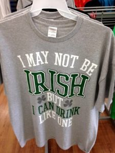 "Walmart's defaming ""I may not be Irish, but I can Drink Like One Shirt"""