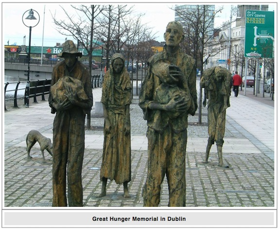 Great Hunger Memorial in Dublin