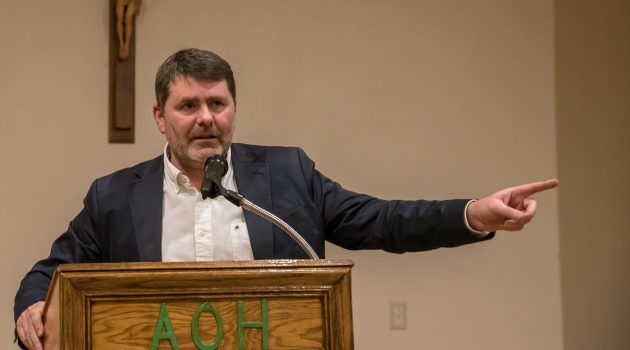 NY AOH Hosts Mark Thompson of Relatives for Justice's