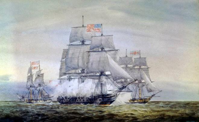 Barry battles Atlanta, and the sloop, Trespassy.