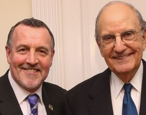 Malachy McCallister and Senator George Mitchell